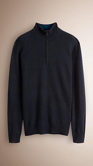 Zip Collar Cashmere Sweater