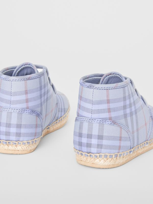 Check Espadrille Booties in Dusty Blue - Children | Burberry - cell image 2