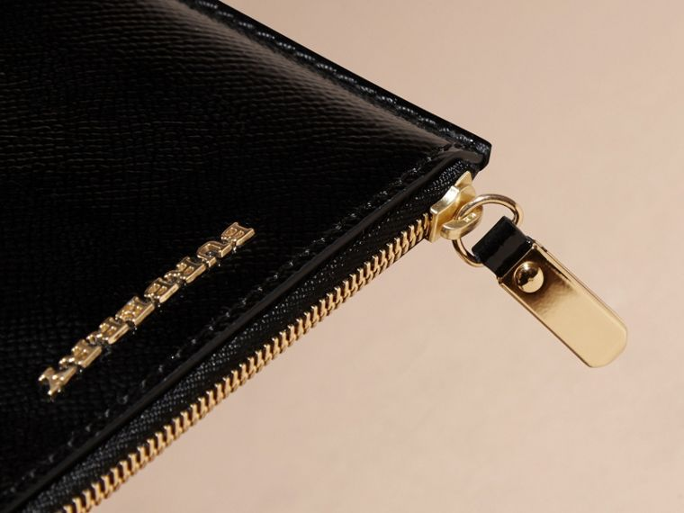 Pochette en cuir London verni - Femme | Burberry - cell image 1
