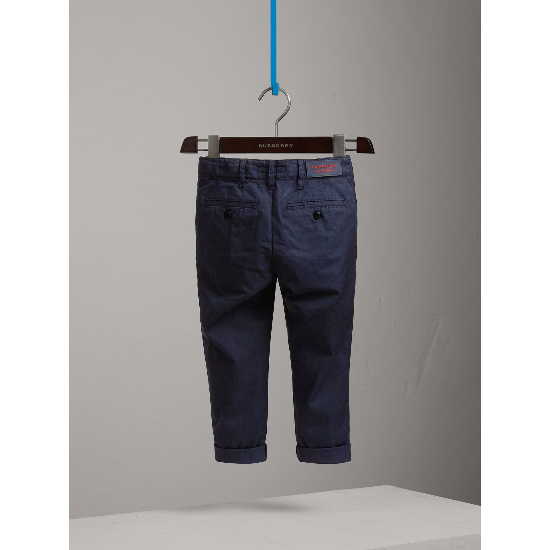 Cotton Chinos in Ink - Boy | Burberry United Kingdom - gallery image 4