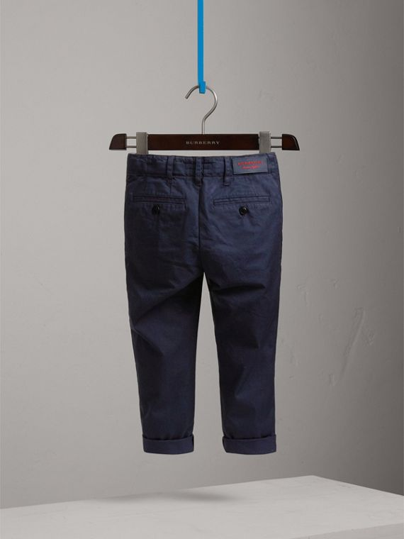 Cotton Chinos in Ink - Boy | Burberry - cell image 3
