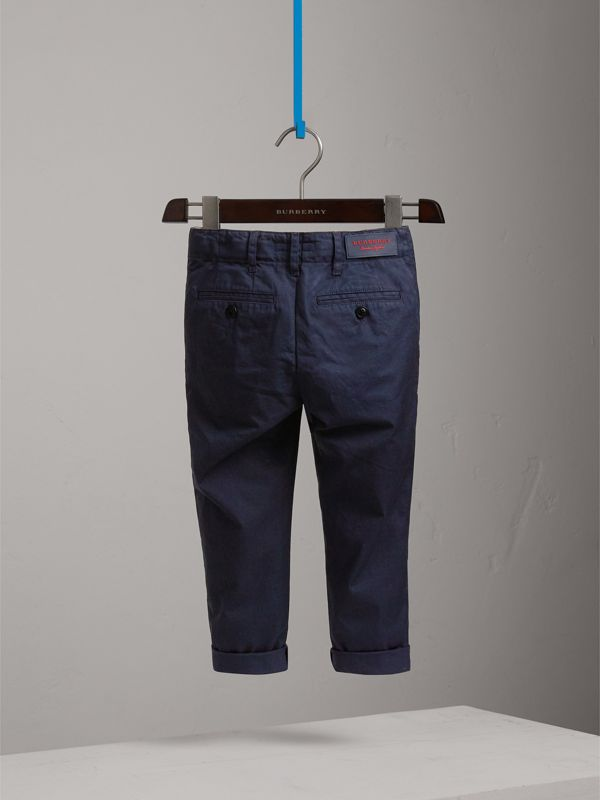 Cotton Chinos in Ink | Burberry Canada - cell image 3