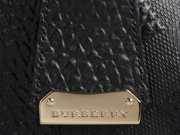 Black The Small Canter in Embossed Check Leather Black - cell image 1