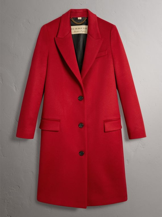 Wool Cashmere Tailored Coat in Parade Red - Women | Burberry Hong Kong - cell image 3