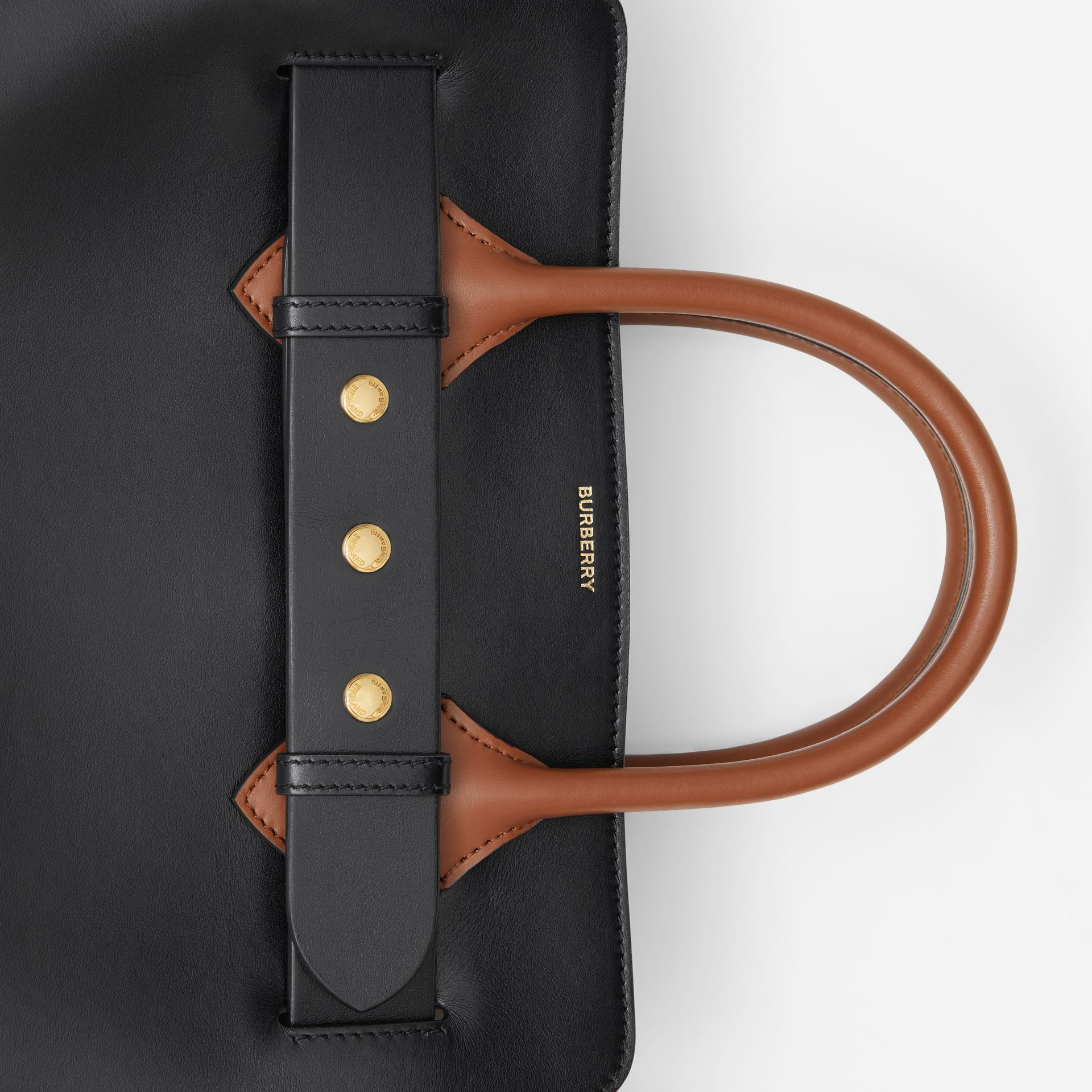 The Small Leather Triple Stud Belt Bag in Black - Women | Burberry United Kingdom - gallery image 1