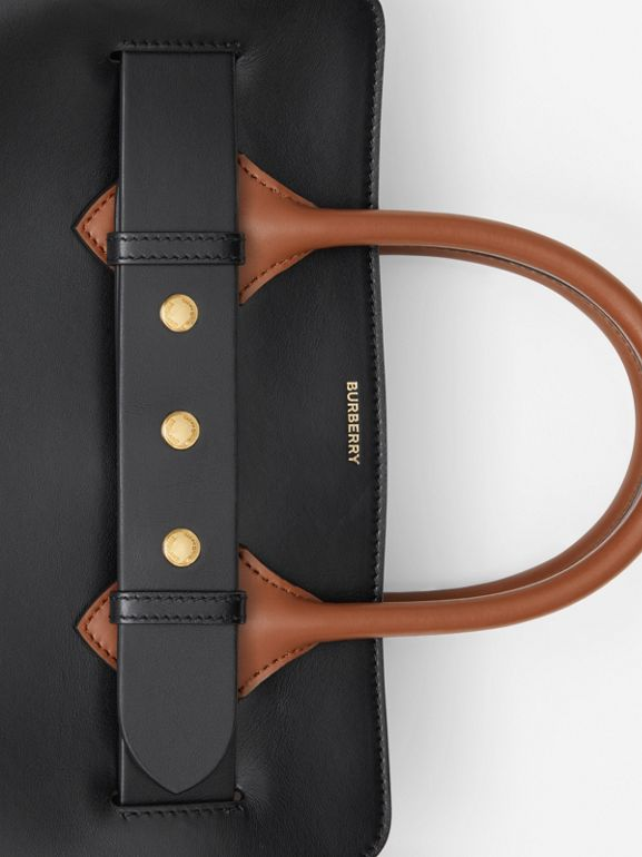The Small Leather Triple Stud Belt Bag in Black - Women | Burberry United Kingdom - cell image 1