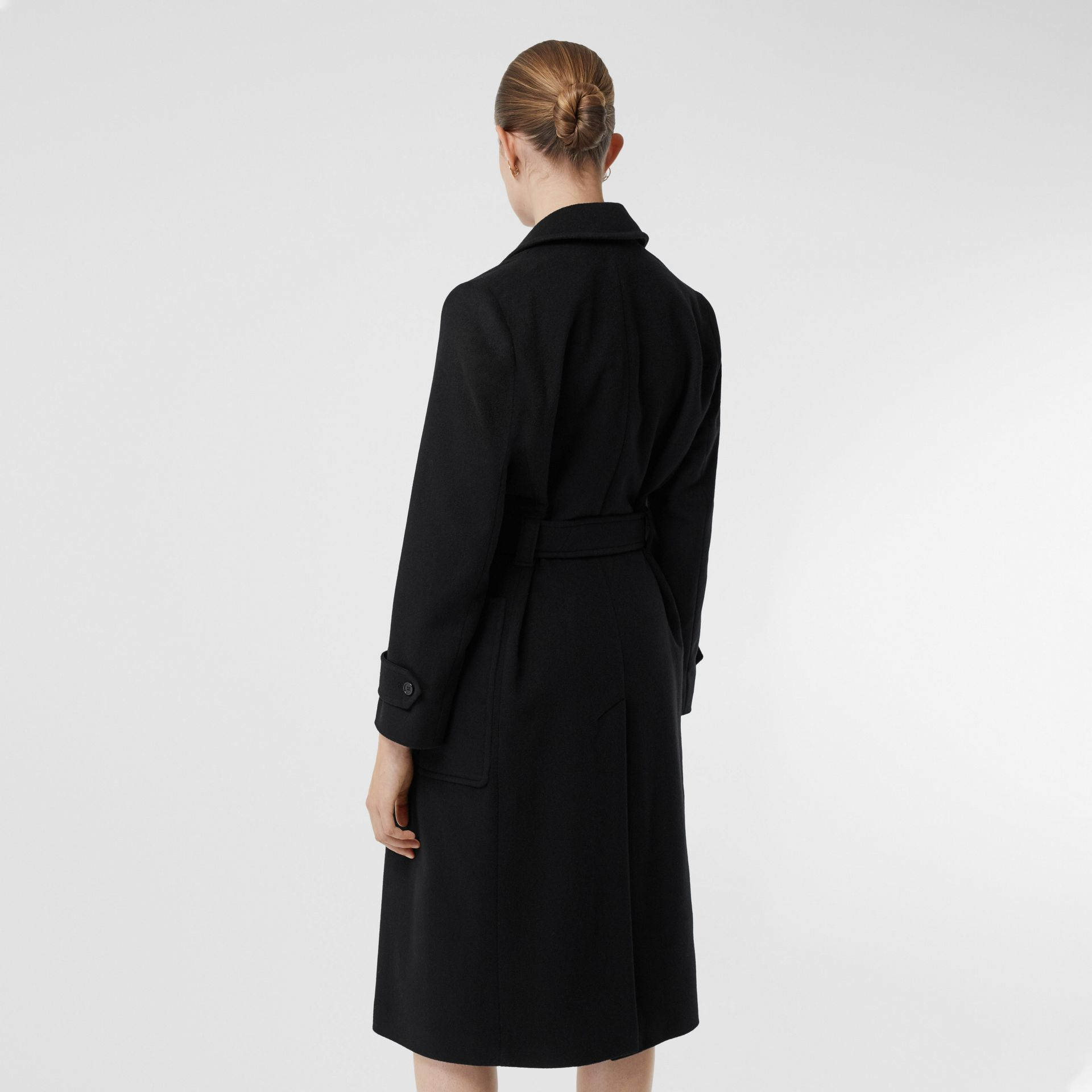 Cashmere Wrap Coat in Black - Women | Burberry - gallery image 2