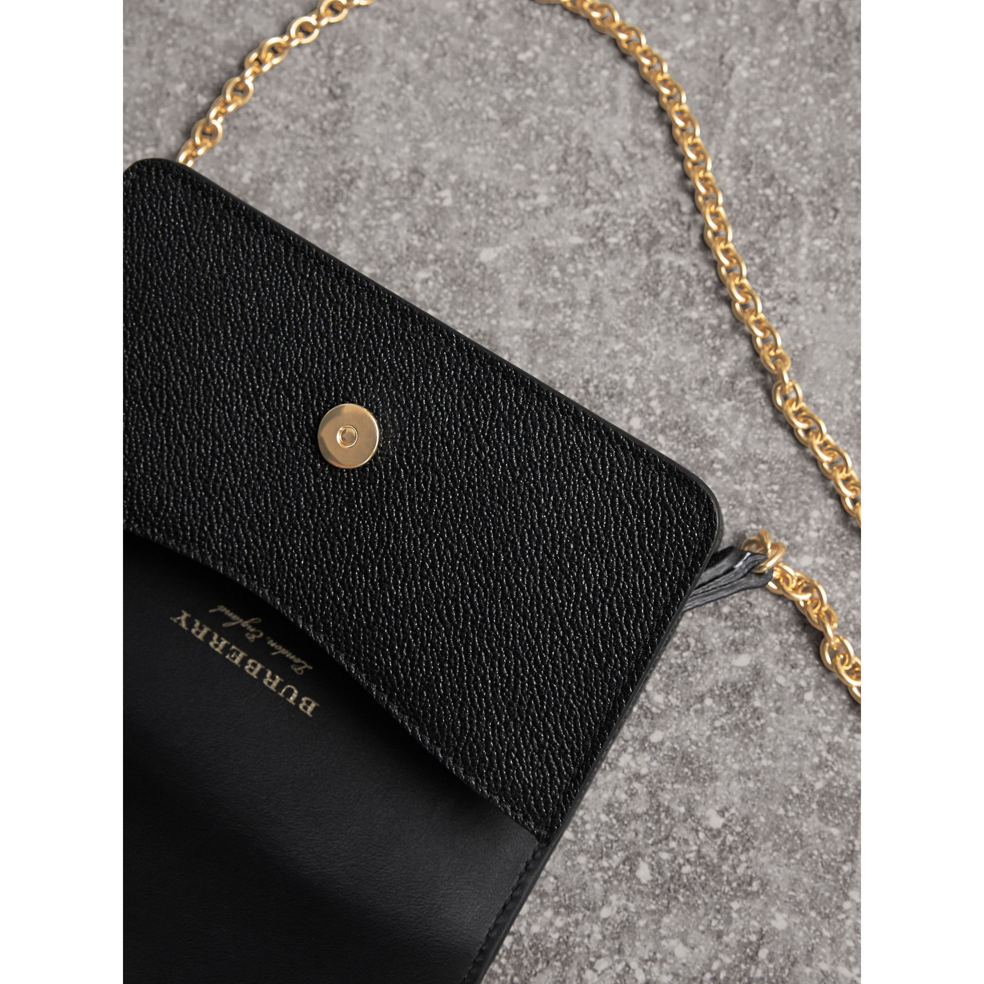 The Mini Buckle Bag in Grainy Leather in Black - Women | Burberry - gallery image 6