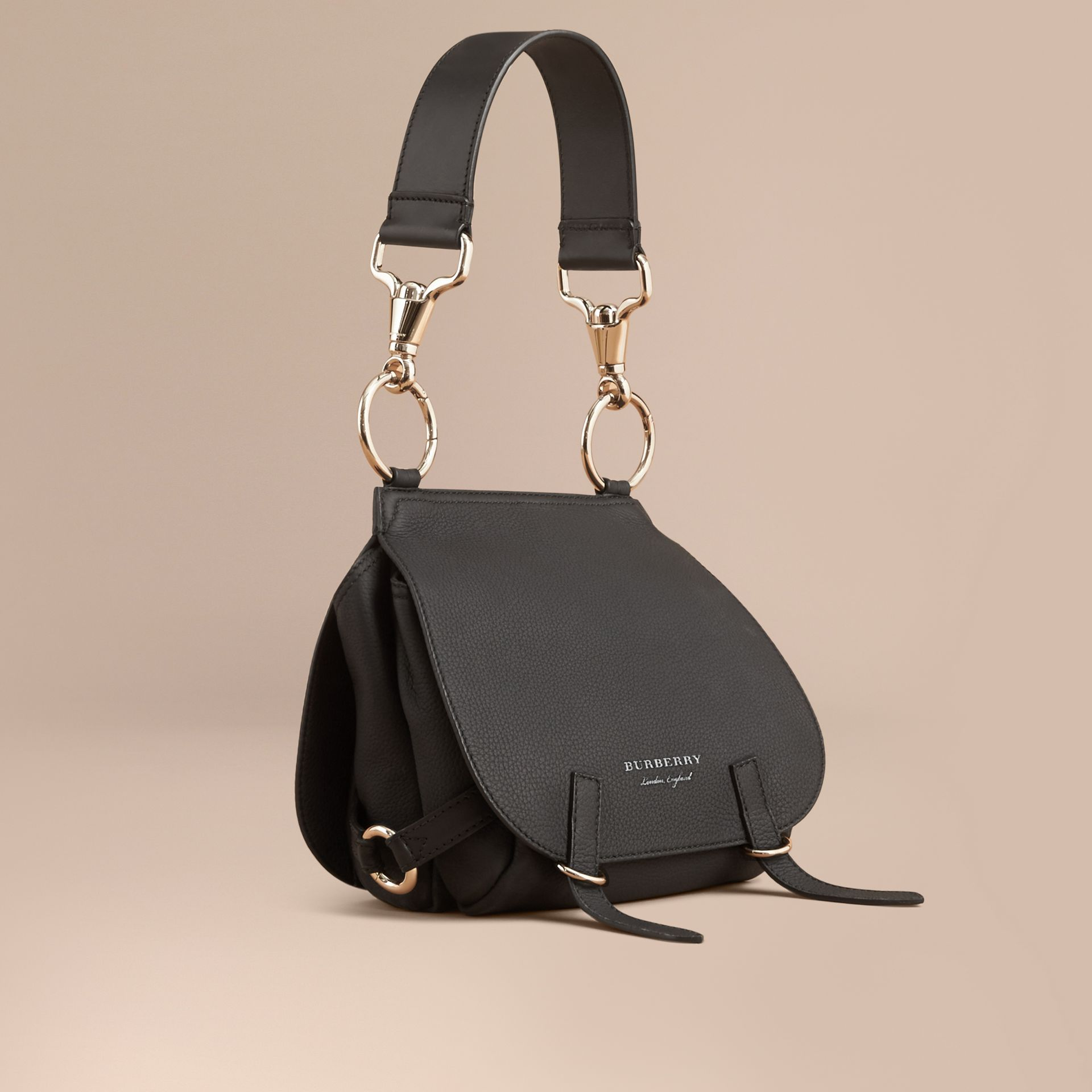 The Bridle Bag in Deerskin in Black - Women | Burberry United Kingdom - gallery image 1