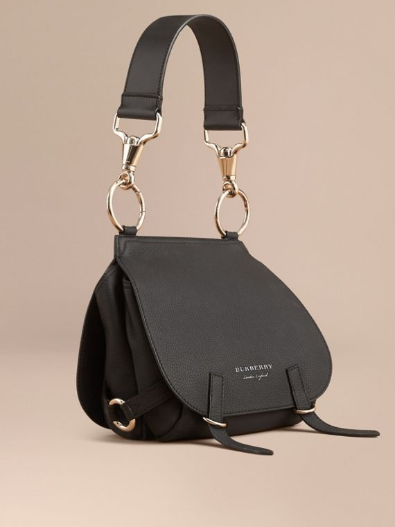The Bridle Bag in Deerskin in Black - Women | Burberry