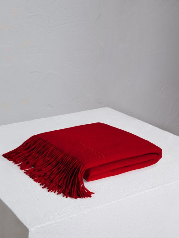 Cashmere Blanket in Parade Red
