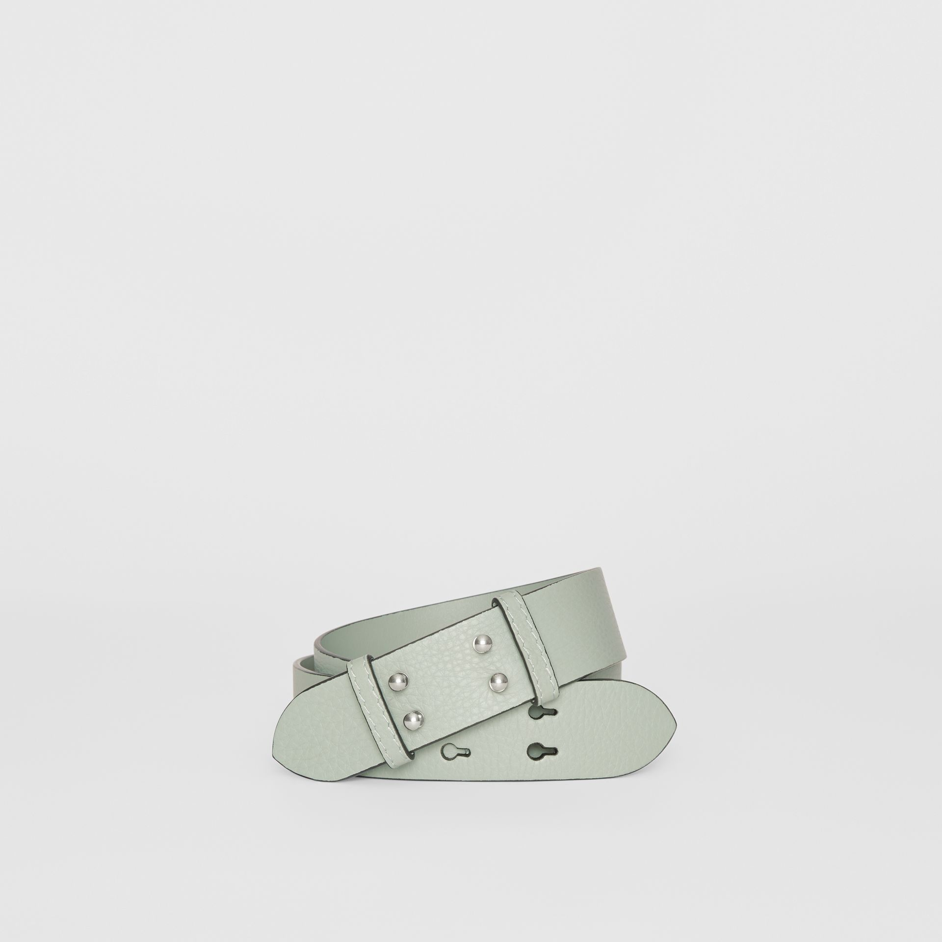 The Small Belt Bag Grainy Leather Belt in Grey Blue - Women | Burberry - gallery image 0