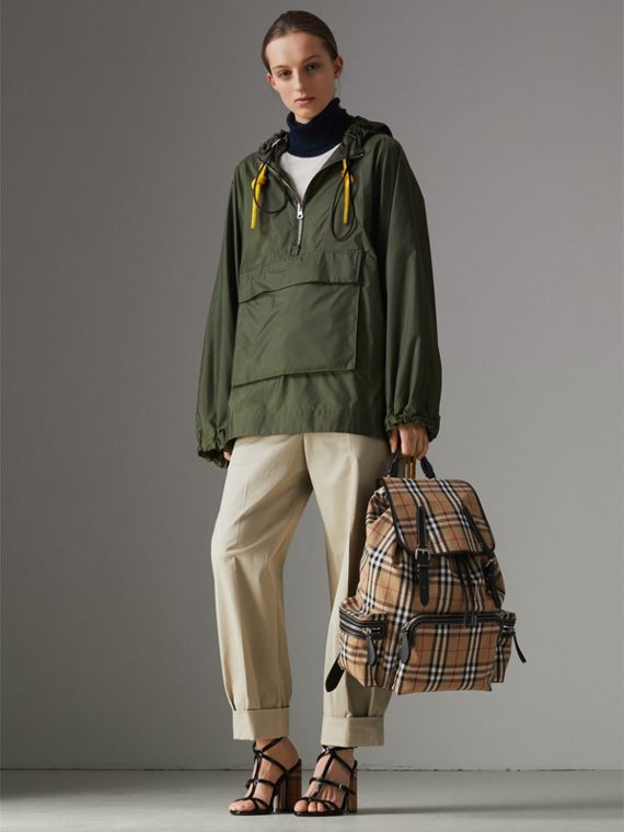 The Large Rucksack in Vintage Check in Antique Yellow | Burberry - cell image 2