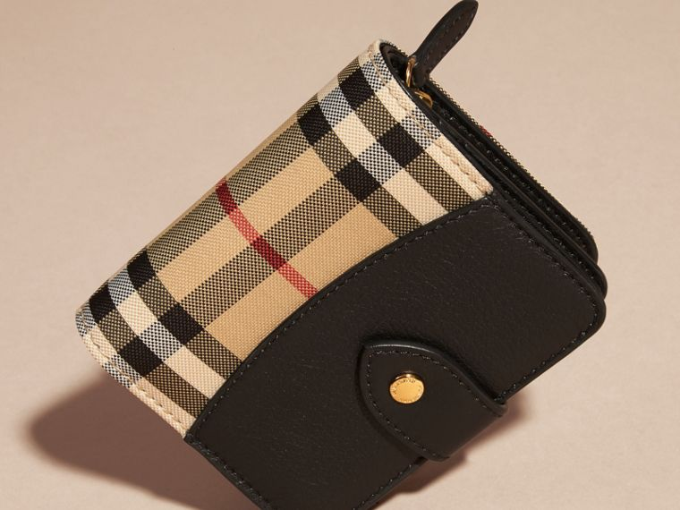 Horseferry Check and Leather Wallet Black - cell image 4