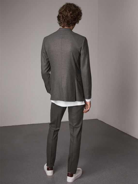Soho Fit Wool Flannel Suit in Dark Charcoal Melange - Men | Burberry - cell image 2