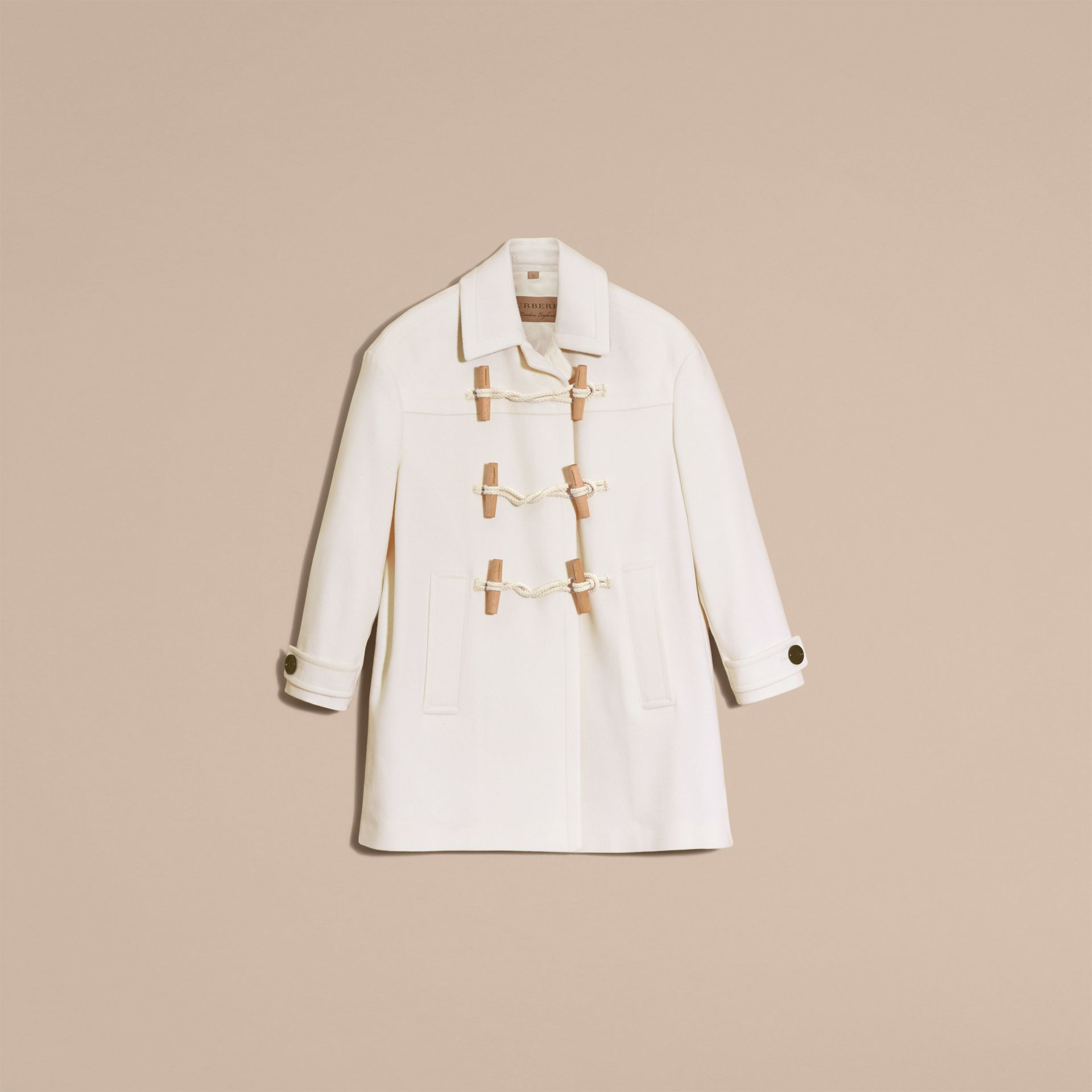 White Cashmere Duffle Coat White - gallery image 4