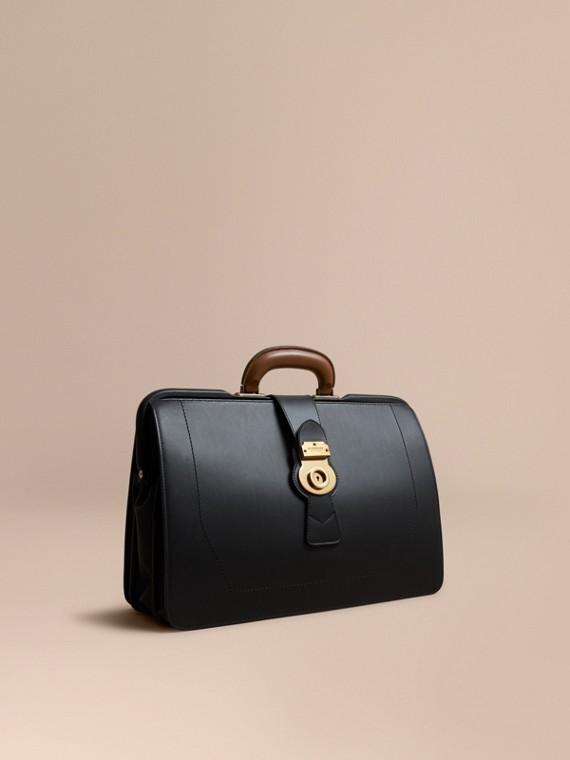 «Докторская» сумка из кожи Trench Черный