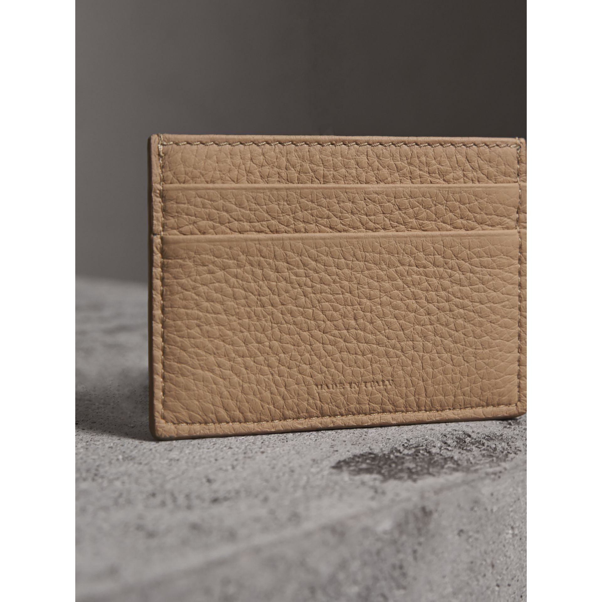Textured Leather Card Case in Chino - Men | Burberry - gallery image 3