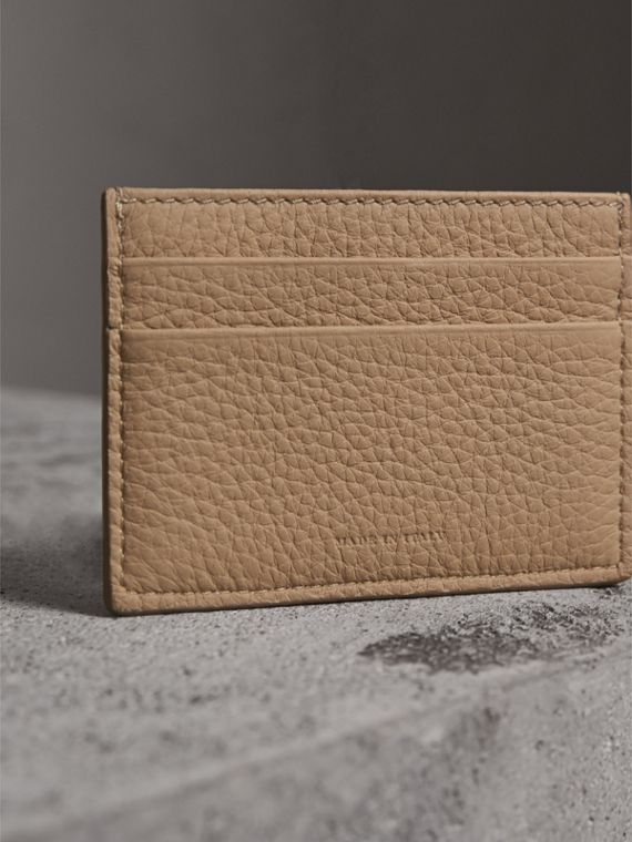 Textured Leather Card Case in Chino - Men | Burberry - cell image 2