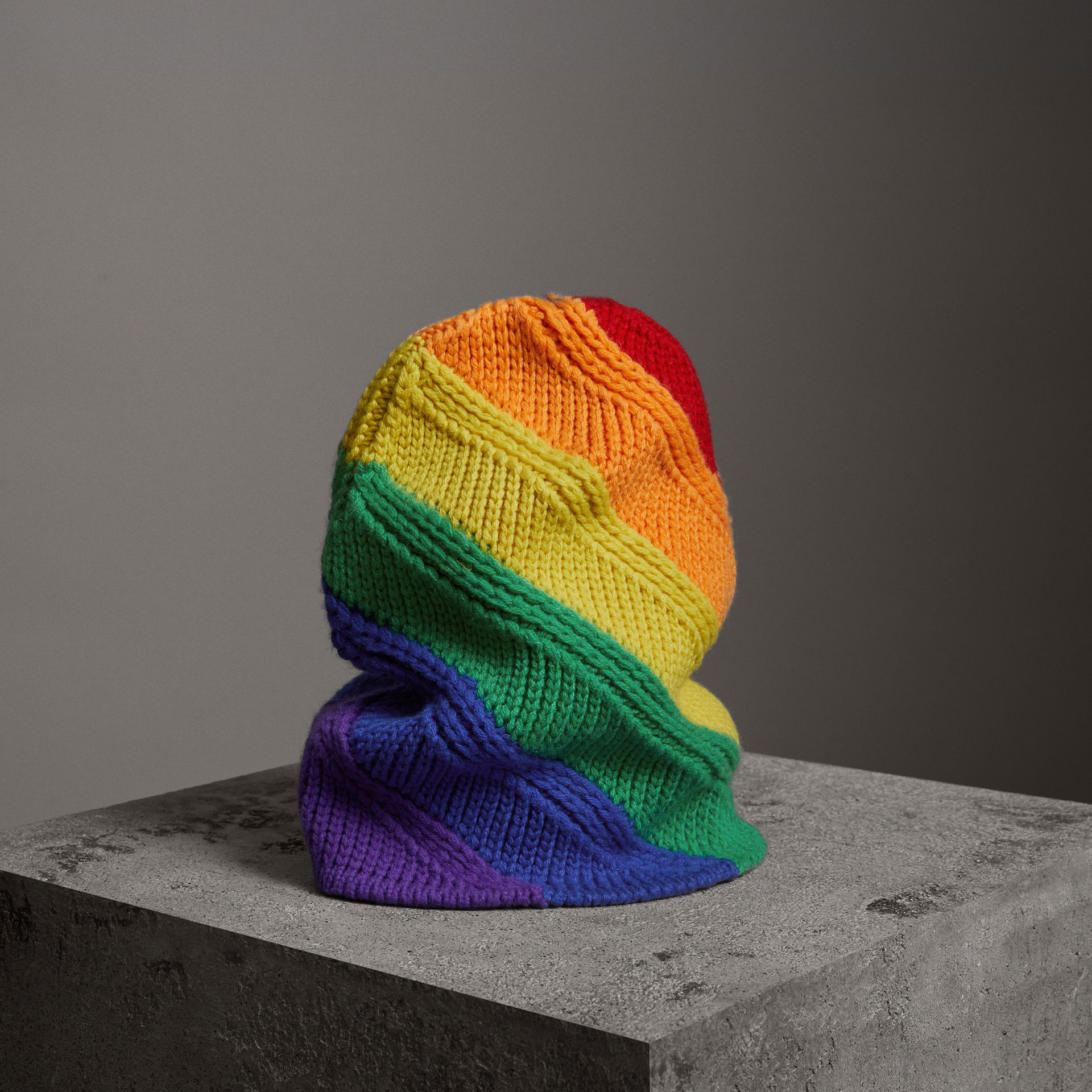 Rainbow Wool Cashmere Beanie | Burberry United Kingdom - gallery image 0