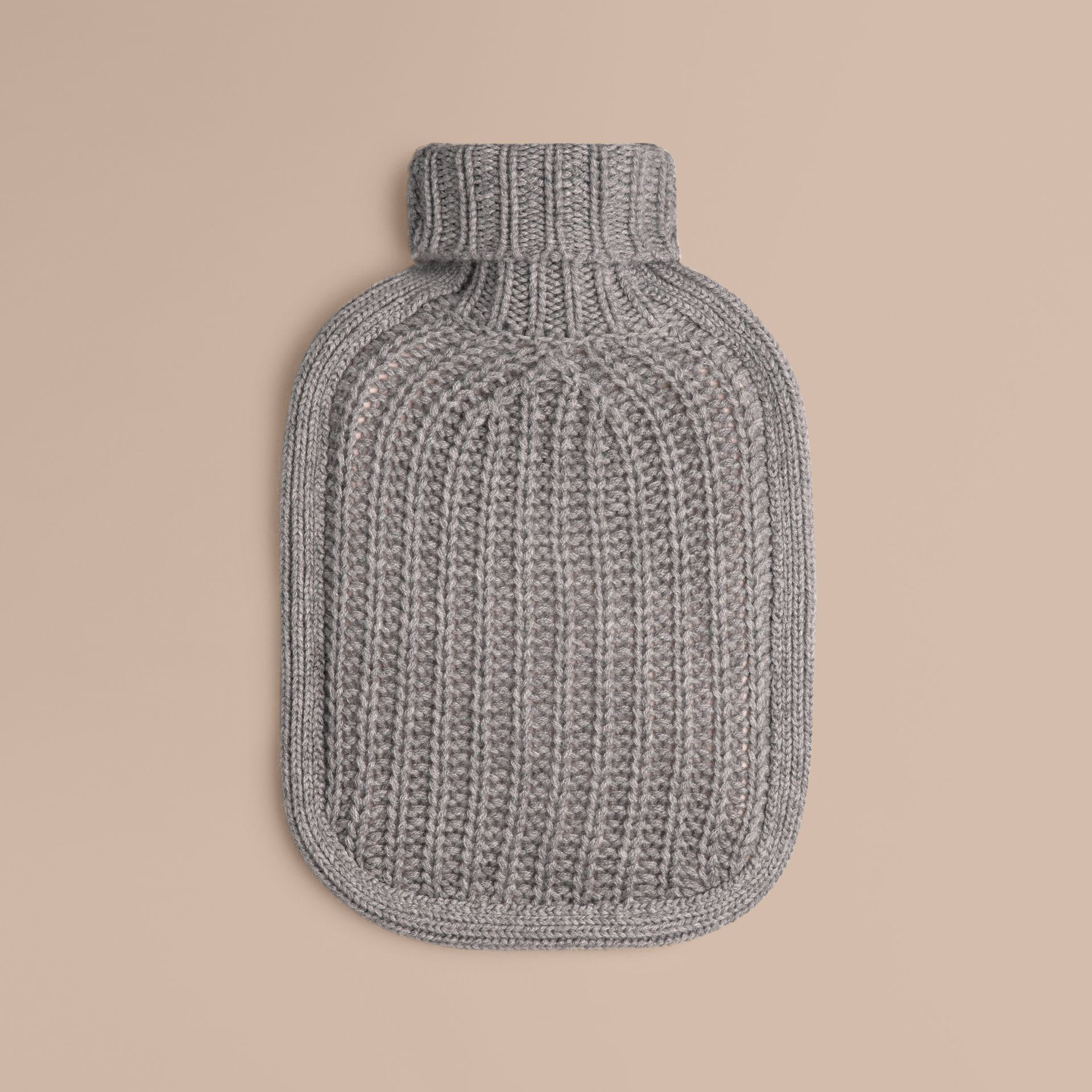 Light grey melange Cashmere Hot Water Bottle Cover Light Grey Melange - gallery image 1