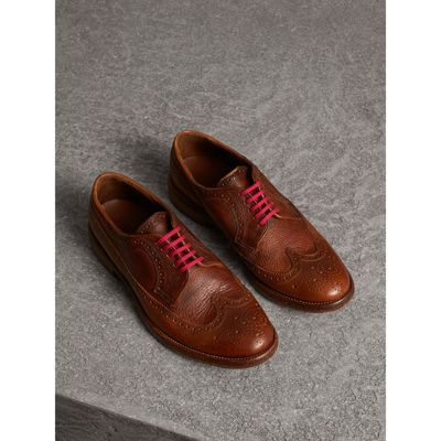Leather Brogues with Painted Laces - Red Burberry BHpj3n