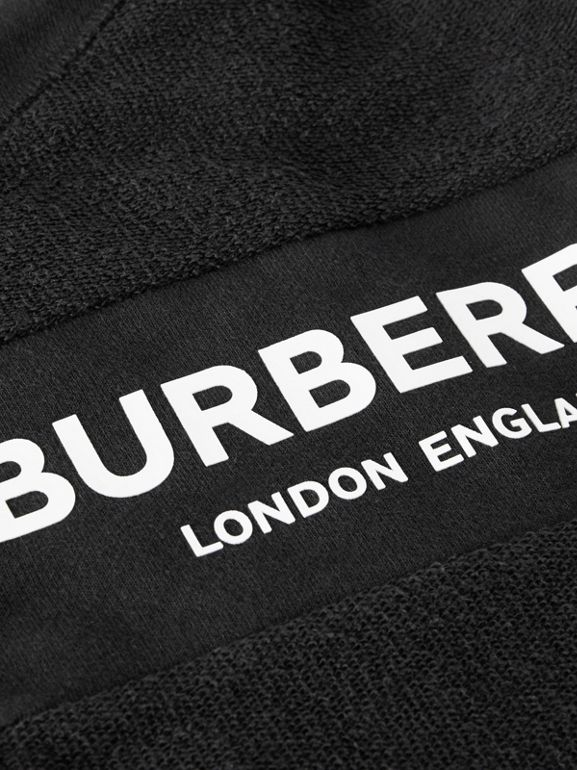 Logo Print Quilted Cotton Jumpsuit in Black - Children | Burberry United Kingdom - cell image 1