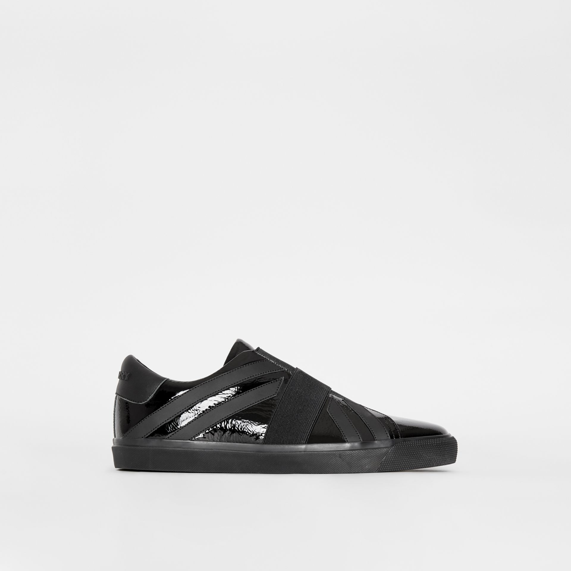 Union Jack Motif Slip-on Sneakers in Black - Women | Burberry - gallery image 5