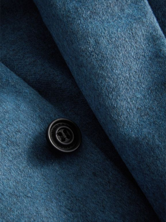 Soho Fit Lightweight Cashmere Tailored Jacket in Slate Blue Melange - Men | Burberry - cell image 1