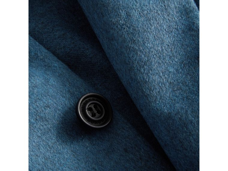 Soho Fit Lightweight Cashmere Tailored Jacket in Slate Blue Melange - Men | Burberry United Kingdom - cell image 1