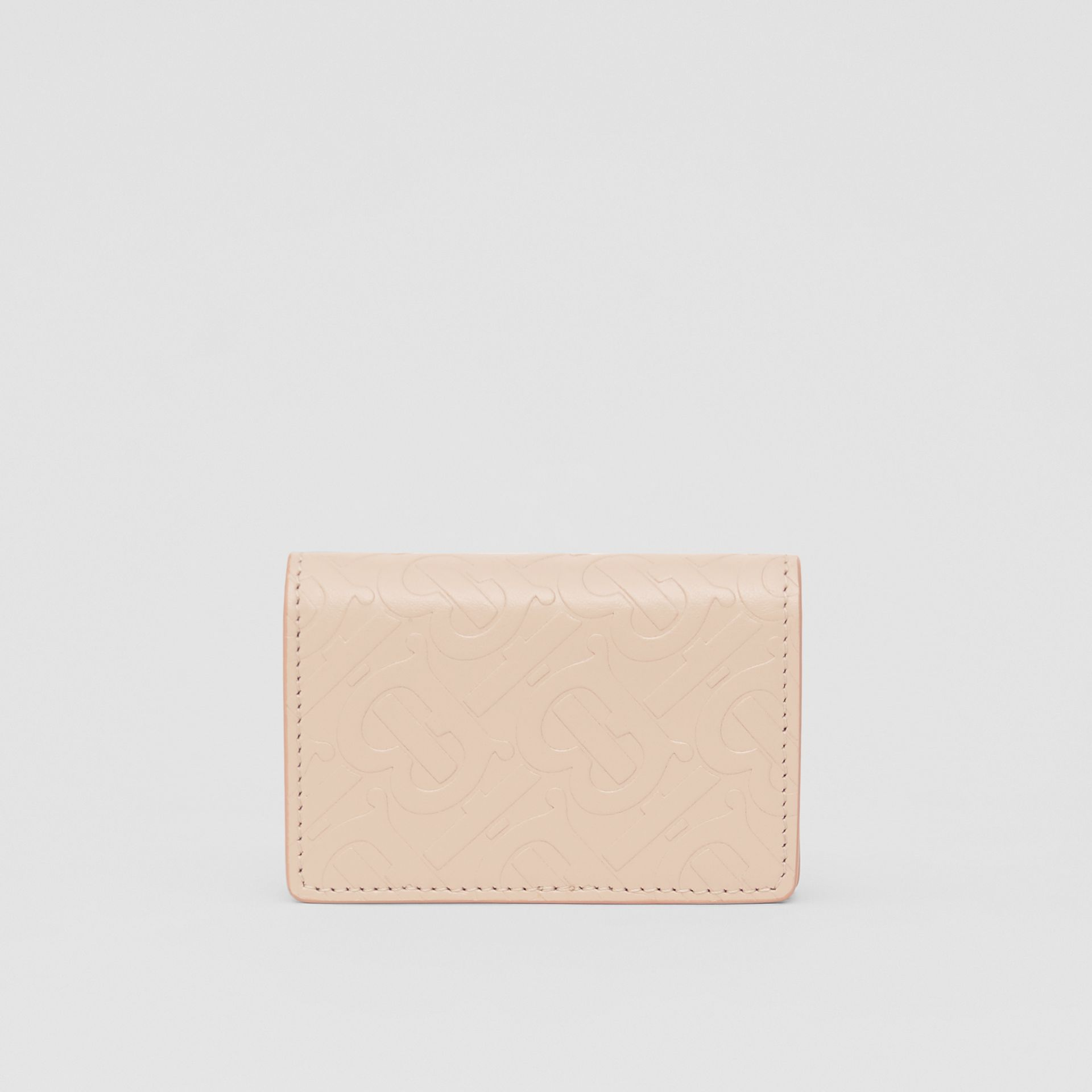 Porte-cartes en cuir Monogram (Beige Rose) | Burberry - photo de la galerie 5