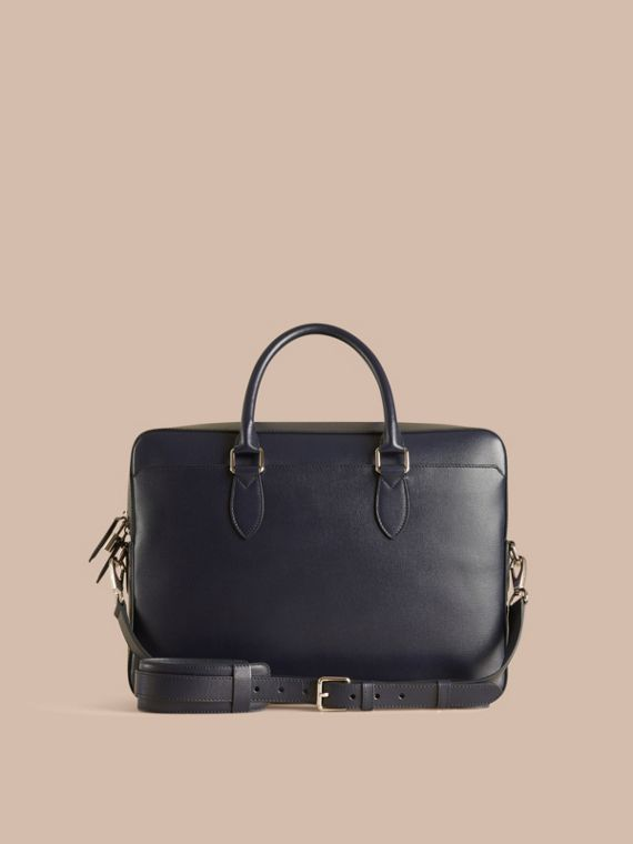 Large London Leather Briefcase in Dark Navy - cell image 3