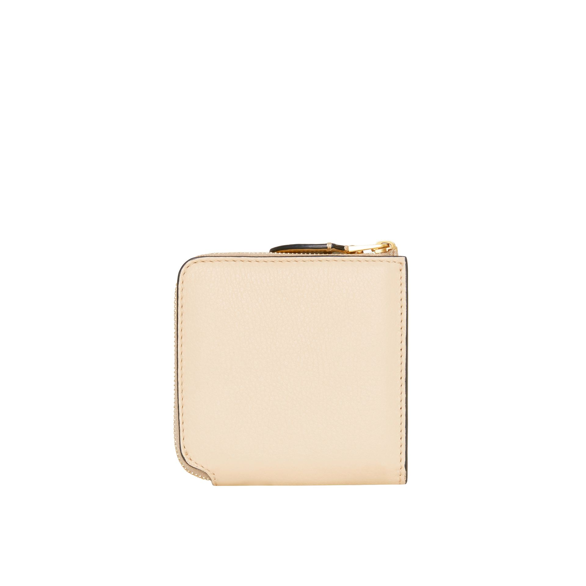 Grainy Leather Square Ziparound Wallet in Limestone - Women | Burberry - gallery image 5