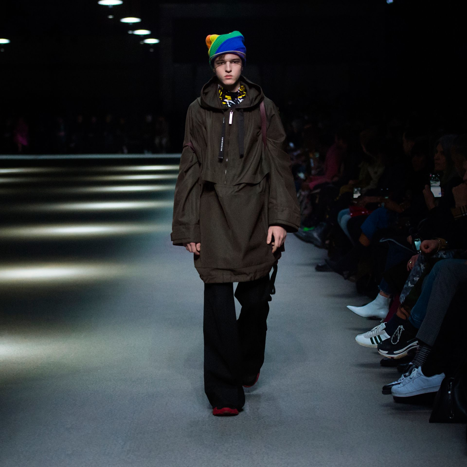 Rainbow Wool Cashmere Peaked Beanie | Burberry United Kingdom - gallery image 5