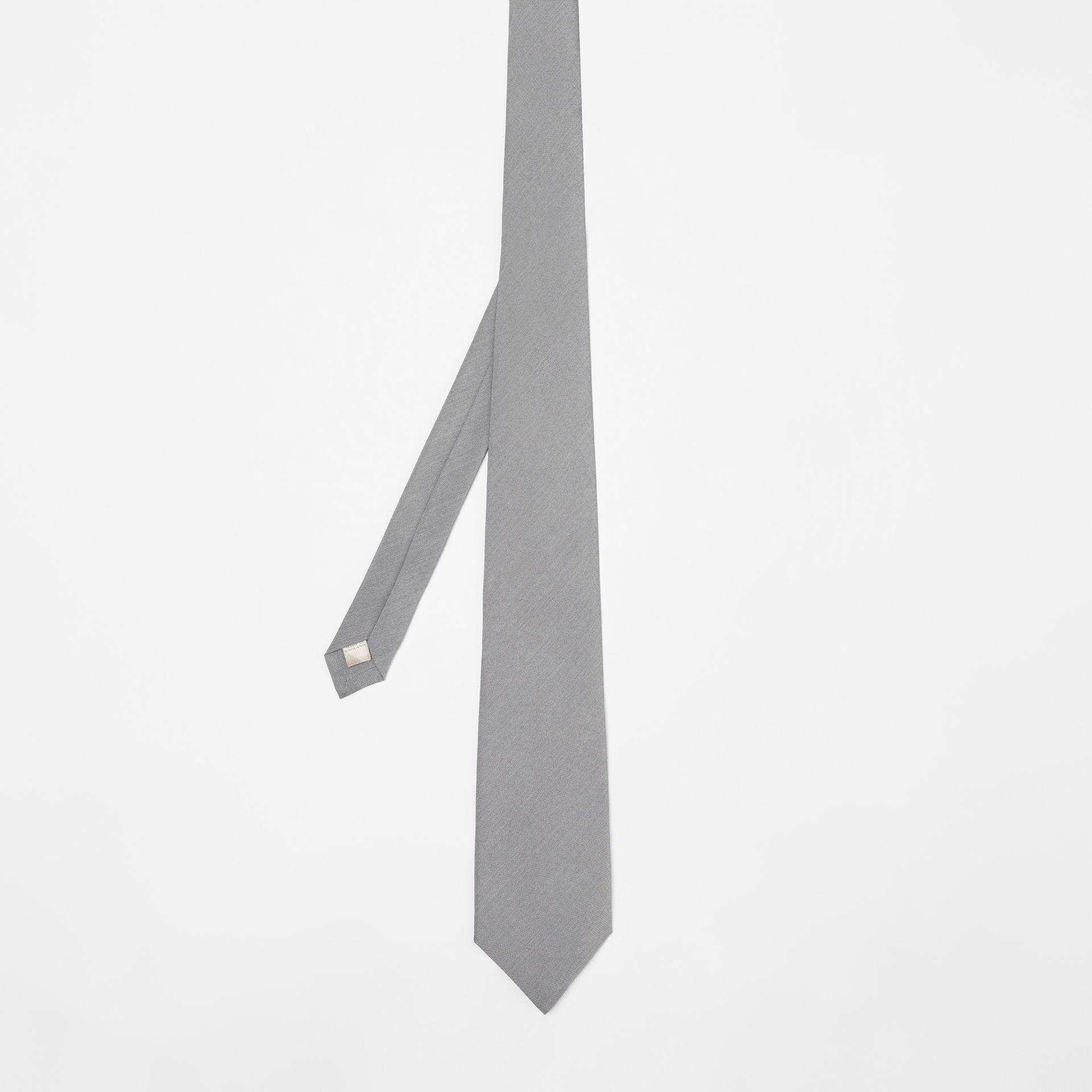 Classic Cut Silk Tie in Light Grey | Burberry United States - gallery image 4