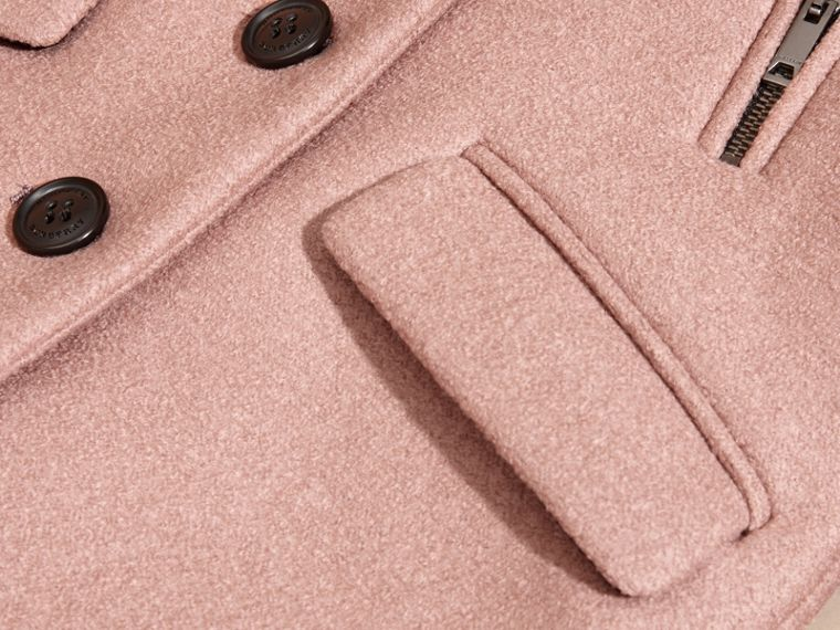 Pale ash rose Tailored Wool Coat - cell image 1