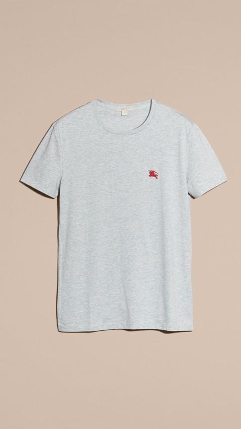 Camaïeu de gris pâles T-shirt en coton ultra-doux Camaïeu De Gris Pâles - Image 4