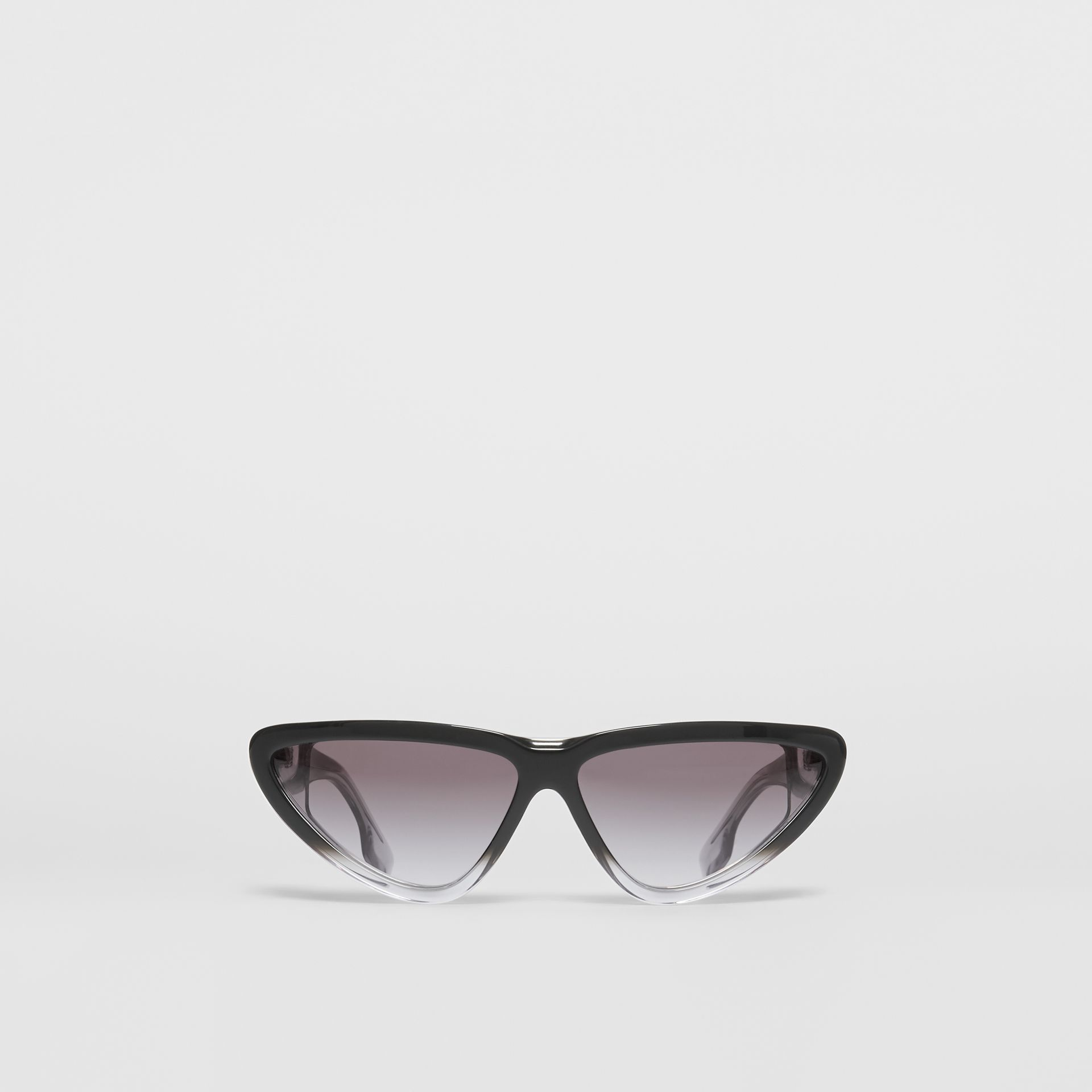 Gradient Detail Triangular Frame Sunglasses in Black - Women | Burberry - gallery image 0