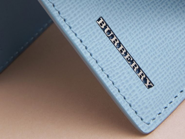 London Leather Bifold Wallet in Powder Blue - cell image 1