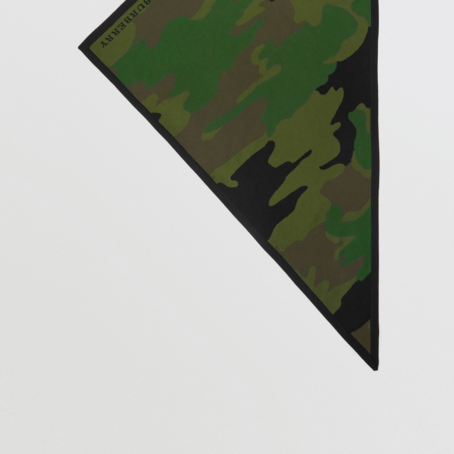 The Burberry Bandana in Camouflage Wool Blend in Khaki | Burberry - gallery image 2