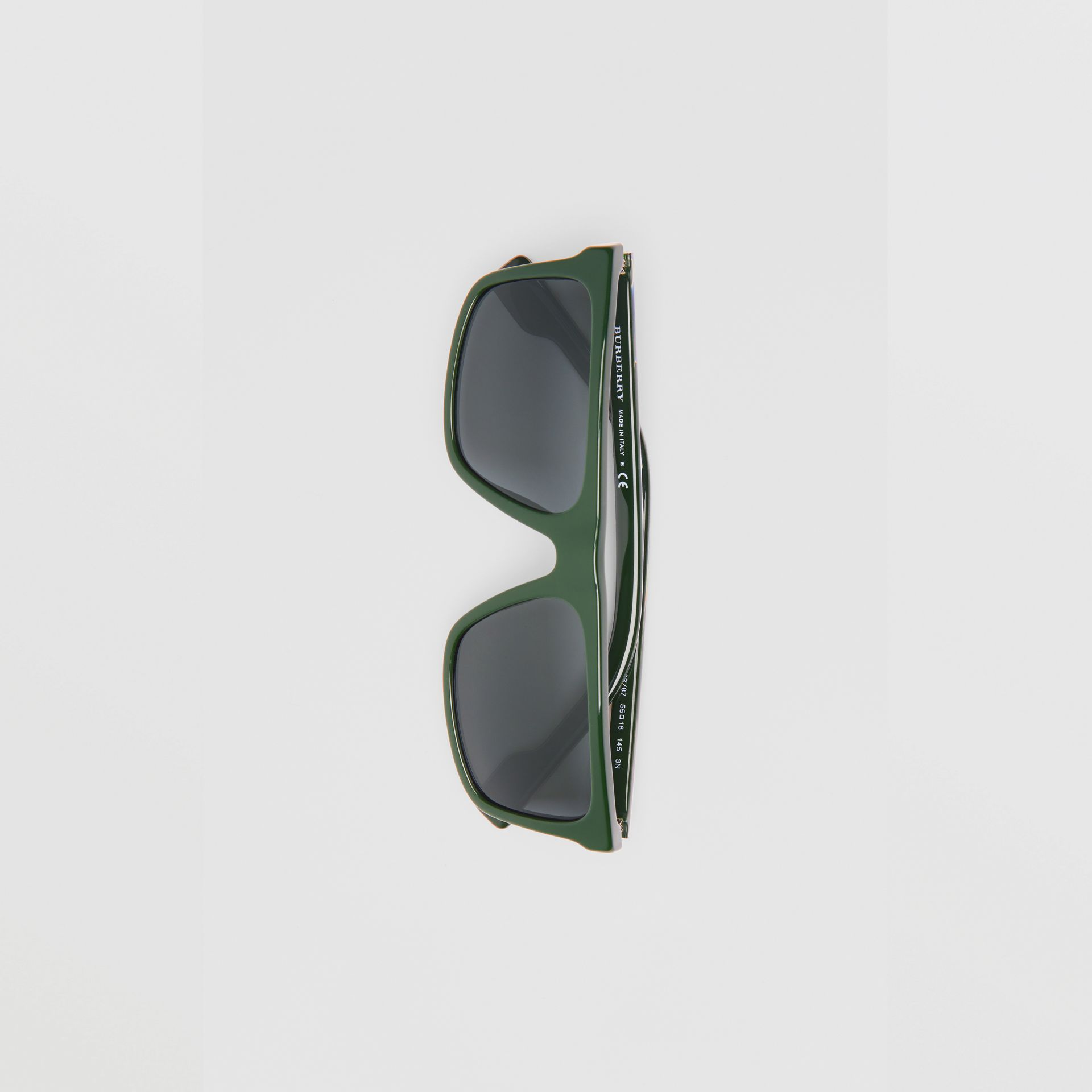 Straight-brow Sunglasses in Green - Men | Burberry United Kingdom - gallery image 3