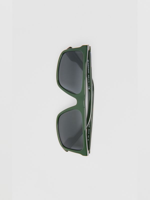 Straight-brow Sunglasses in Green - Men | Burberry - cell image 3