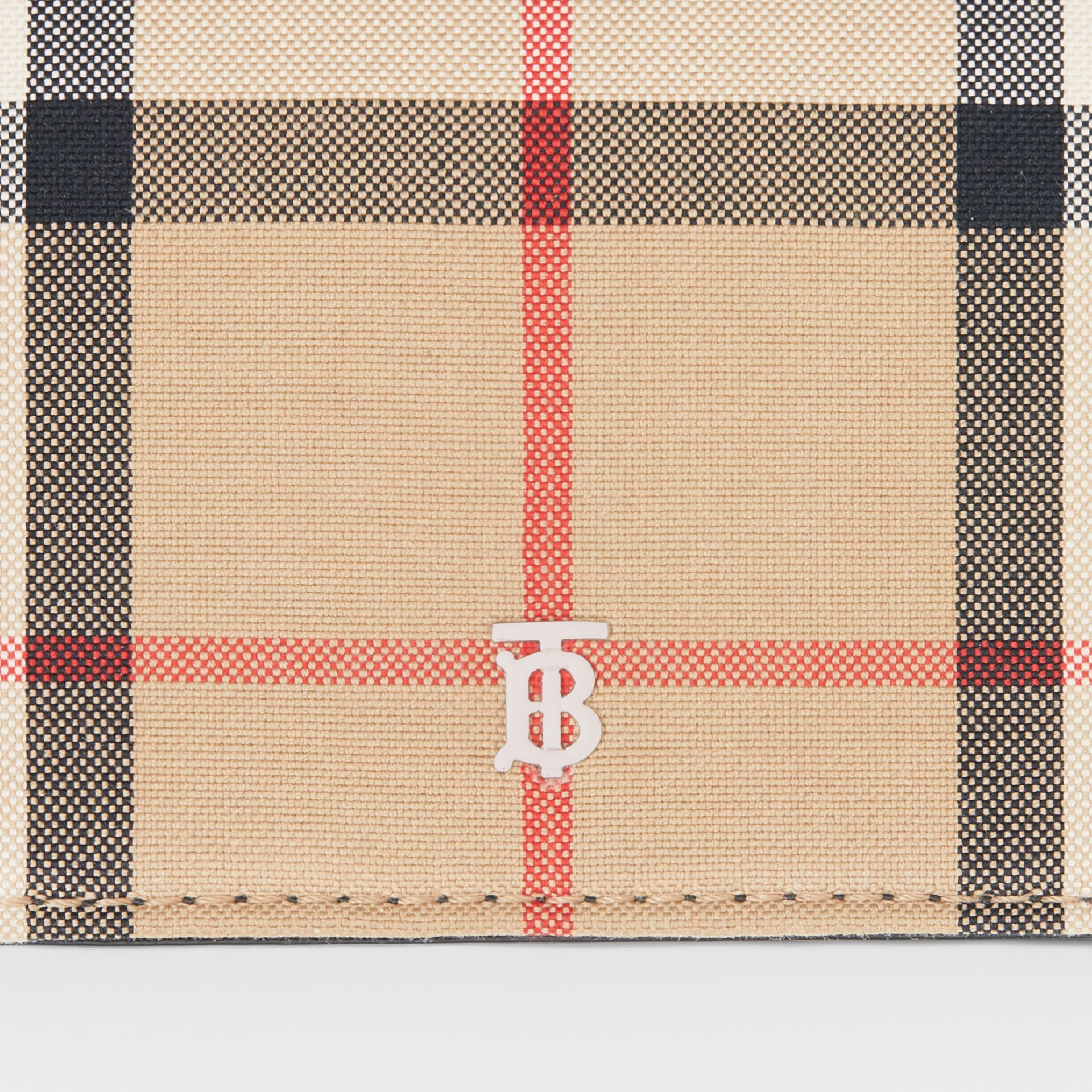 Vintage Check Card Case with Detachable Strap in Black - Women | Burberry - gallery image 1