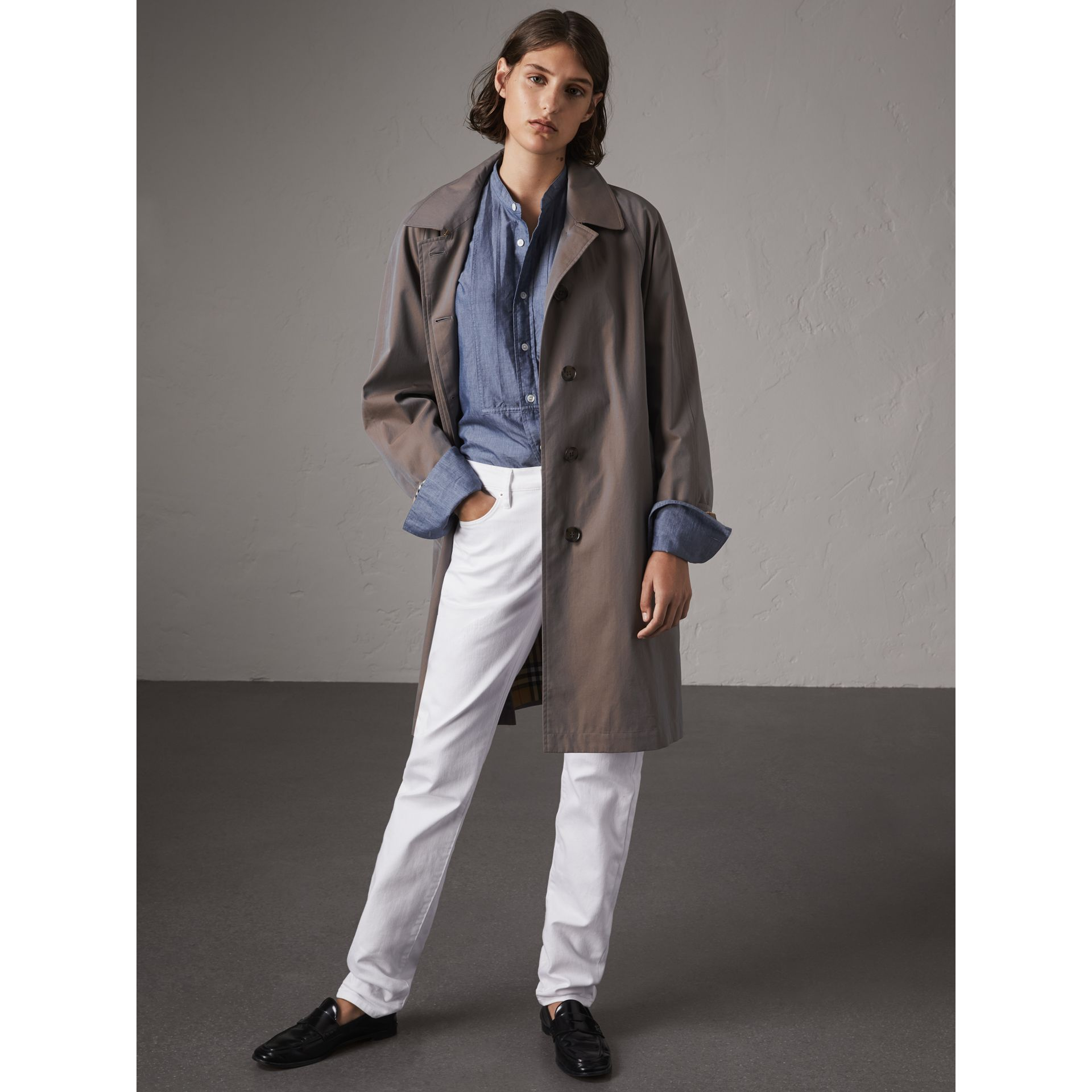 The Camden – Long Car Coat in Lilac Grey - Women | Burberry - gallery image 1