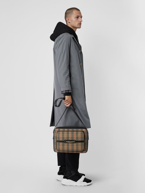 The Large 1983 Check Link Camera Bag in Black - Men | Burberry Hong Kong - cell image 2