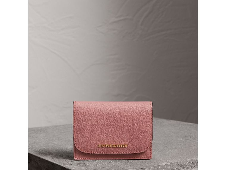 Grainy Leather Card Case in Dusty Pink - Women | Burberry United Kingdom - cell image 4