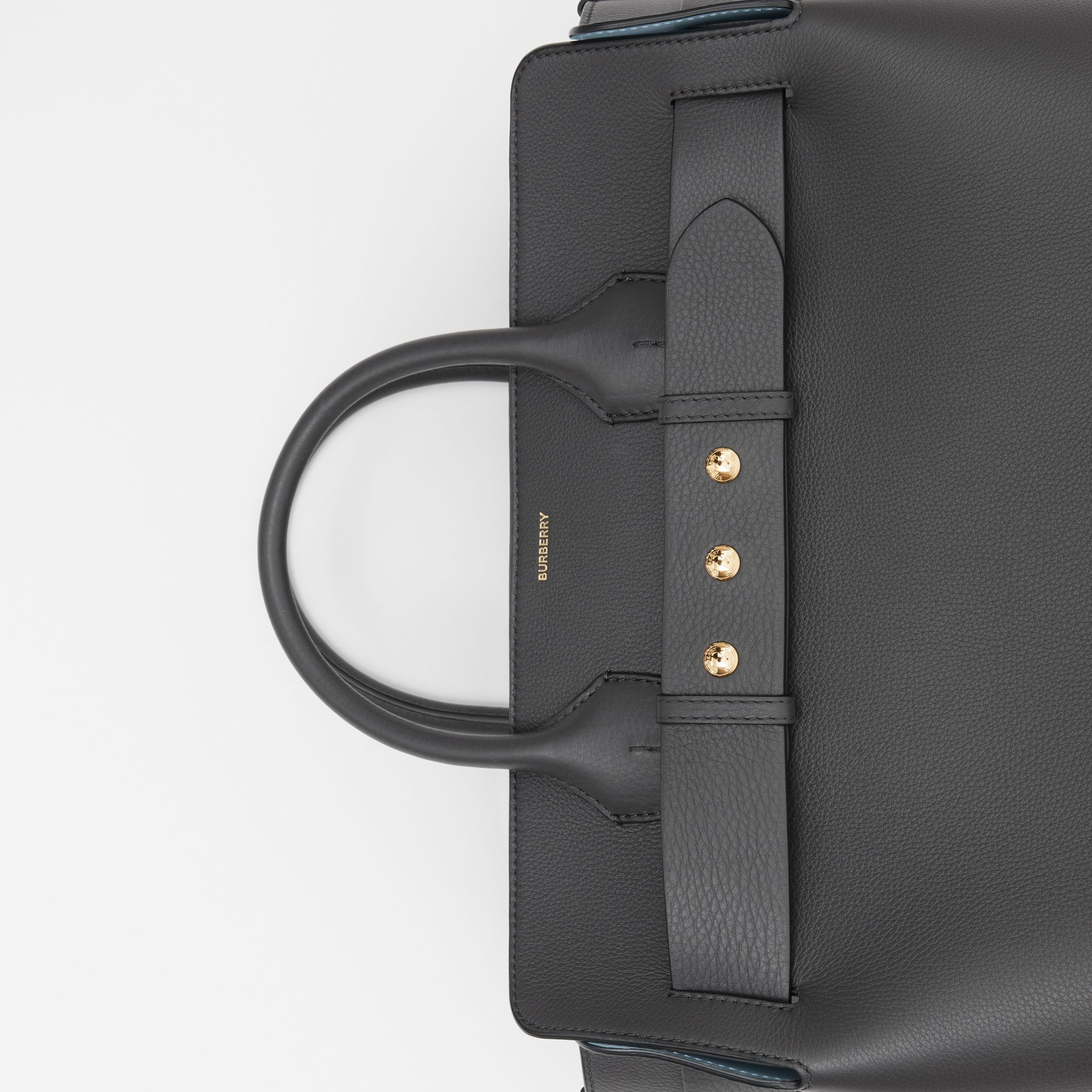The Large Leather Triple Stud Belt Bag in Charcoal Grey - Women | Burberry - gallery image 1