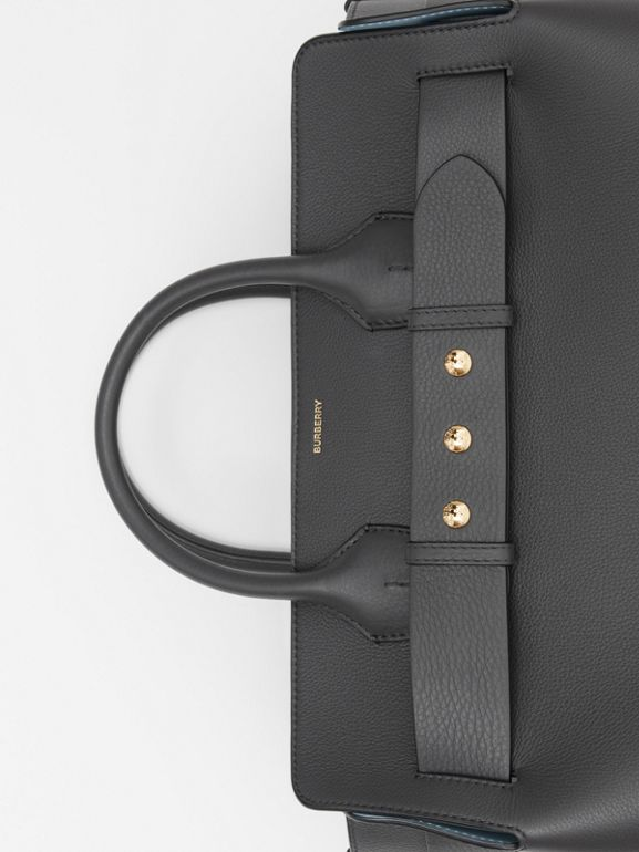 The Large Leather Triple Stud Belt Bag in Charcoal Grey - Women | Burberry United States - cell image 1