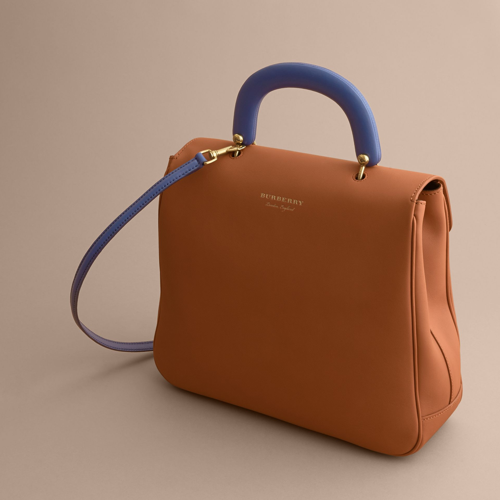 The Large DK88 Top Handle Bag in Bright Toffee - Women | Burberry - gallery image 4
