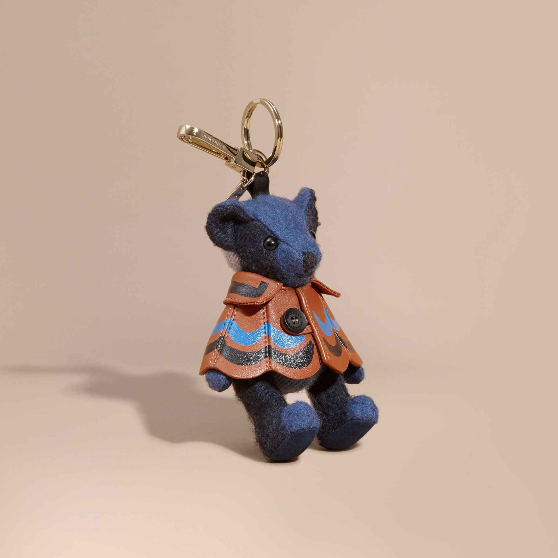Thomas Bear Charm in Trompe L'oeil Print Cape Cadet Blue - gallery image 1
